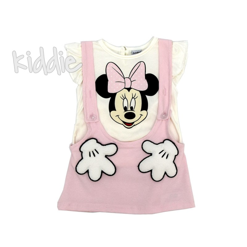 Sarafan cu tricou bebe Baby Wood Minnie Mouse