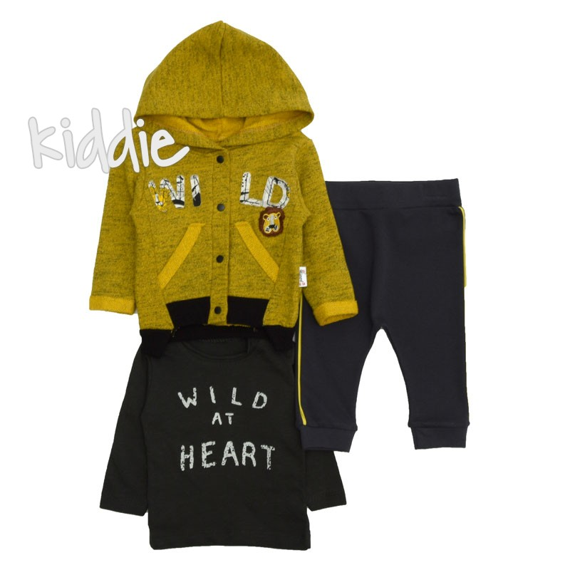Set bebe baieti  Wild at Heart Hippil Baby