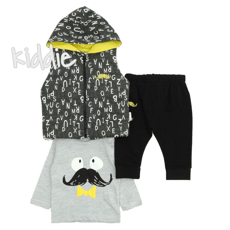 Set baieti Hippil Baby Moustache