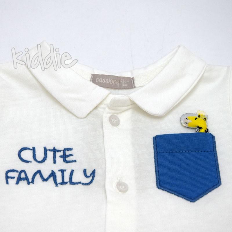 Salopeta bebe Cute Family Cassiope baiat