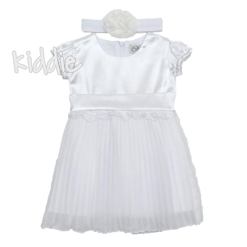 Kimex rochie cu pliseuri pentru bebelusi