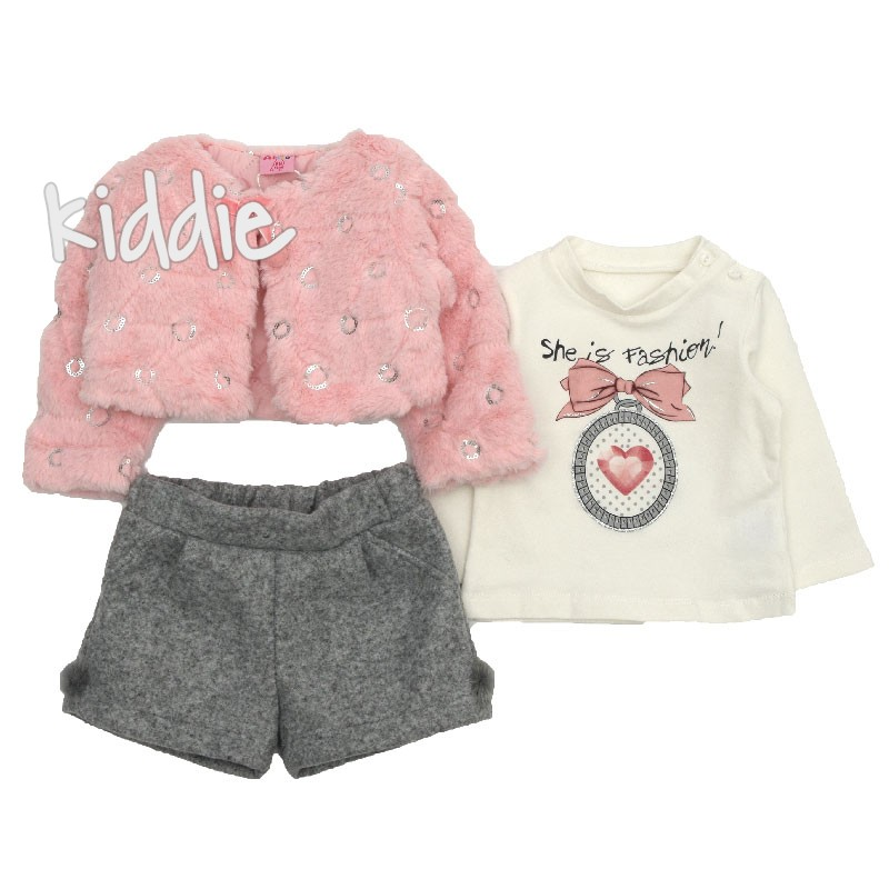 Compleu She is Fashion Ativo pentru bebe