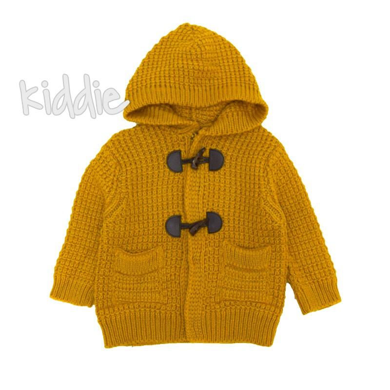 Cardigan tricotat cu gluga bebe