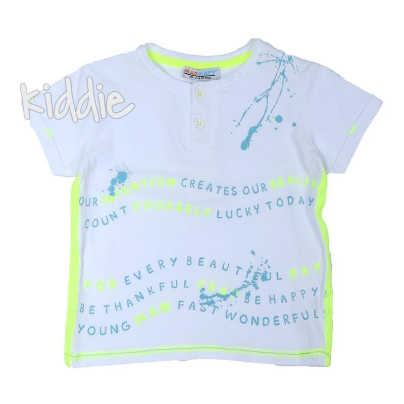 Tricou cu nasturi pentru baiat Mackays