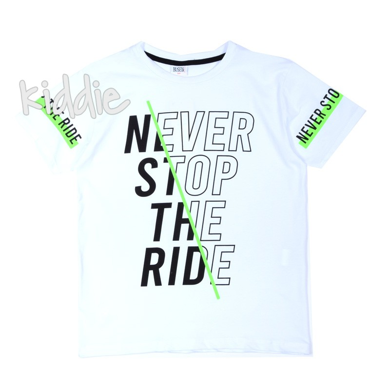 Tricou baieti  Never Stop the Ride Busen