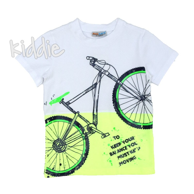 Tricou de baieti Mackays Bicycle