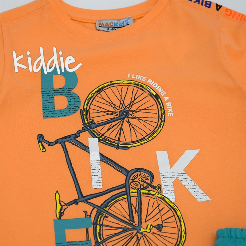Compleu print bicicleta Mackays baieti