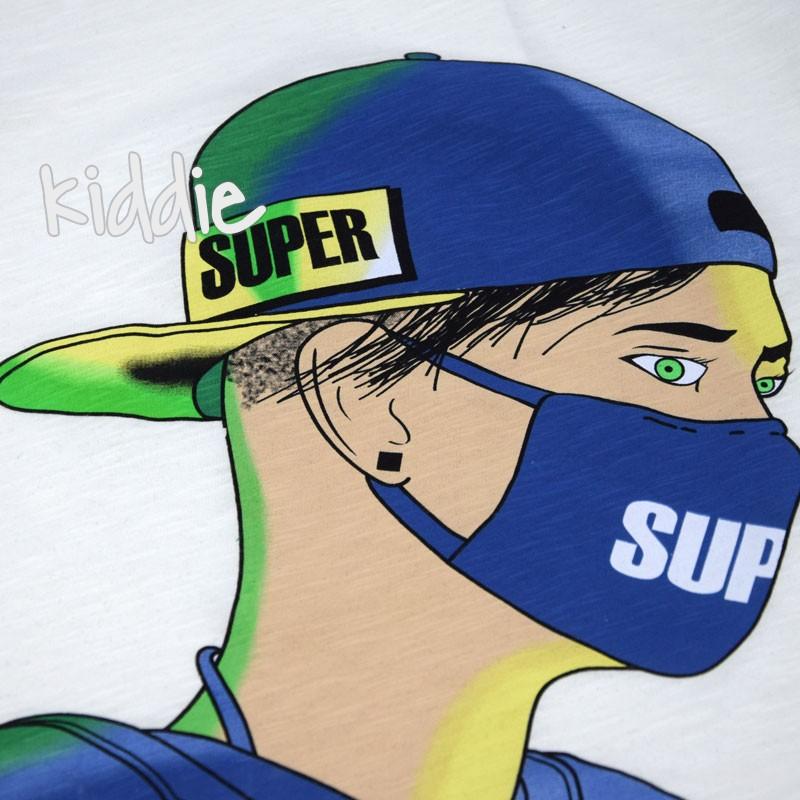 Tricou cu print masca baieti Cikoby Super