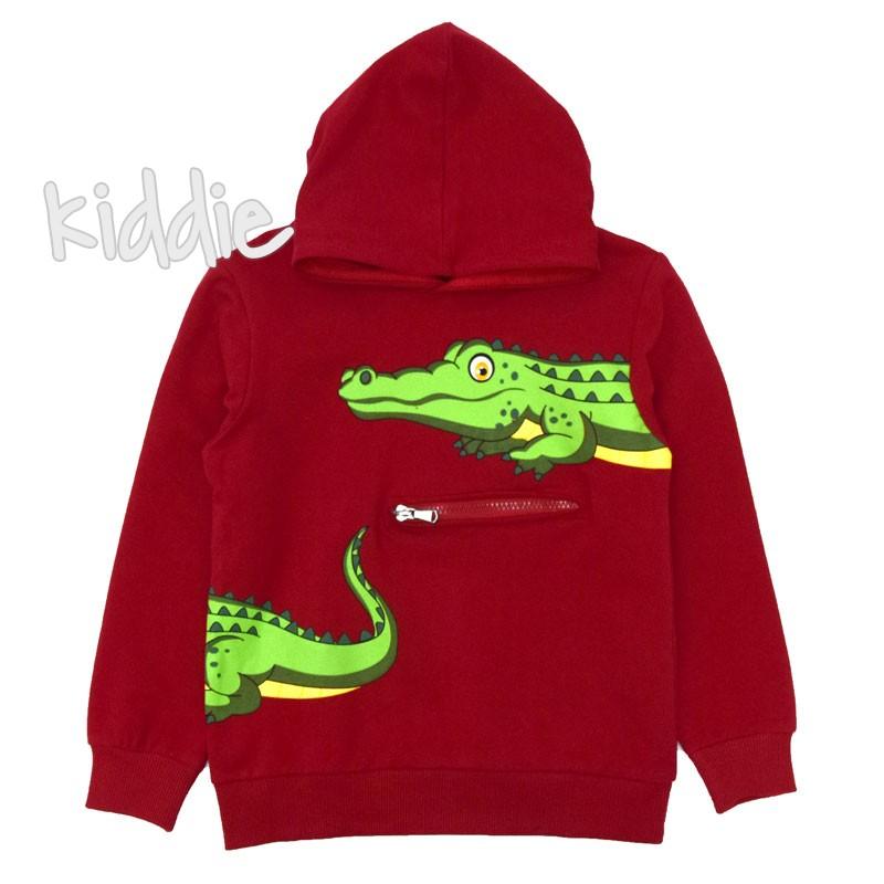 Bluza cu gluga Breeze Crocodile baieti