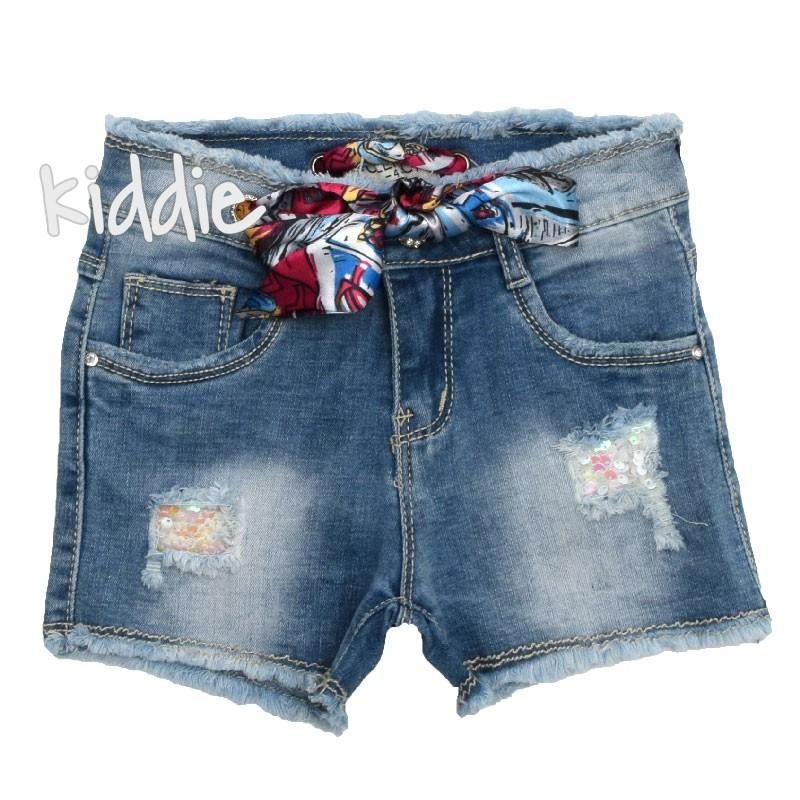 Pantaloni scurti din blug Lollitop  pentru fata