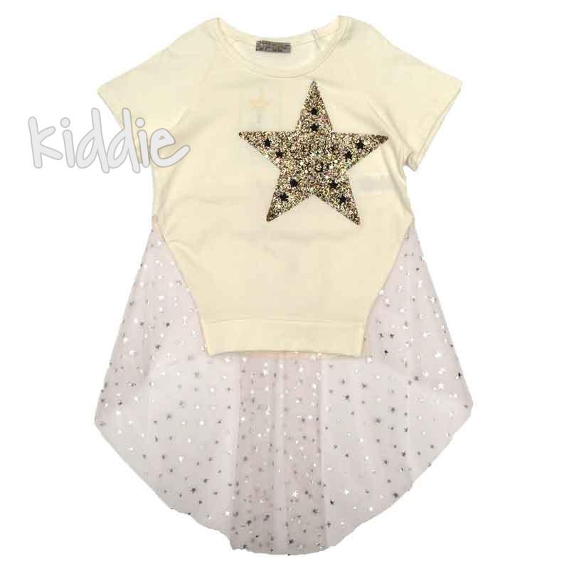 Tunica cu tulle Little star pentru fete