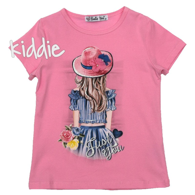 Tricou fete Just You Smile Yes