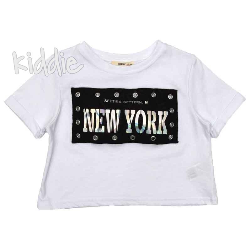 Tricou scurt New York, Cikoby pentru fata