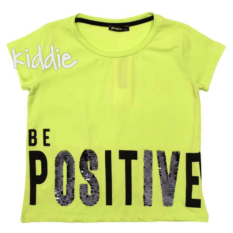 Tricou Be positive Yesmina copii