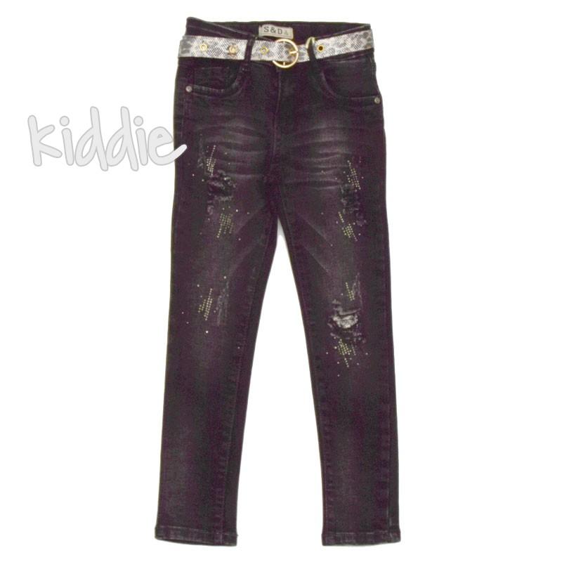 Pantaloni cu curea San D fete