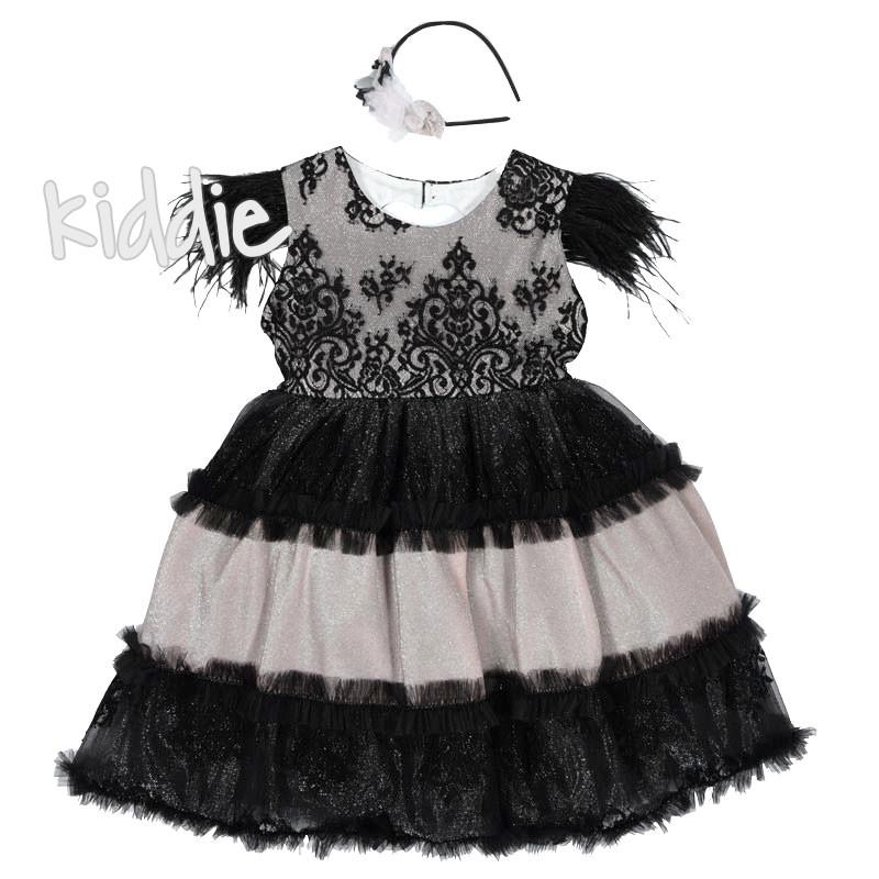 Rochie eleganta cu pene Monita copii