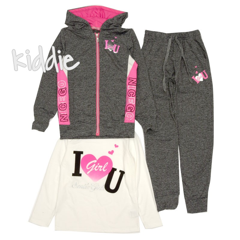 Set trening Pink Baby pentru fete