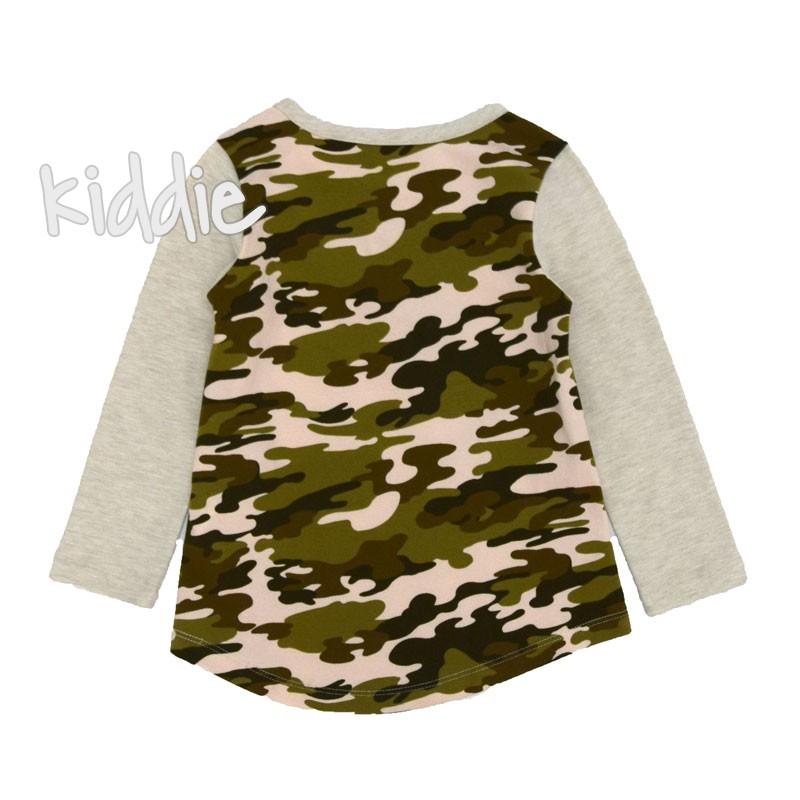 Bluza Wanex fete cu elemente camuflaj