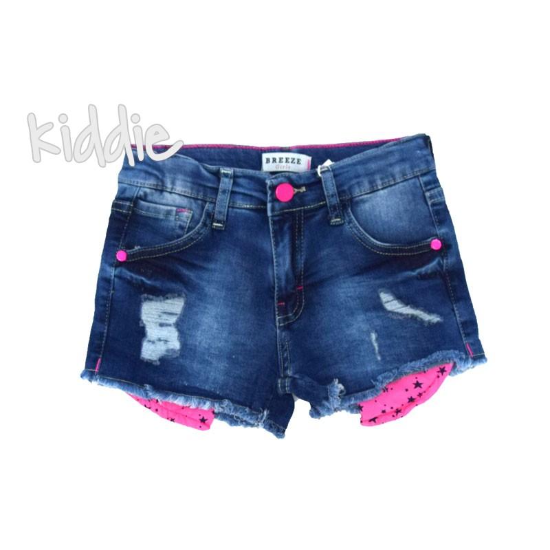 Pantaloni de blugi cu buzunare colorate fete