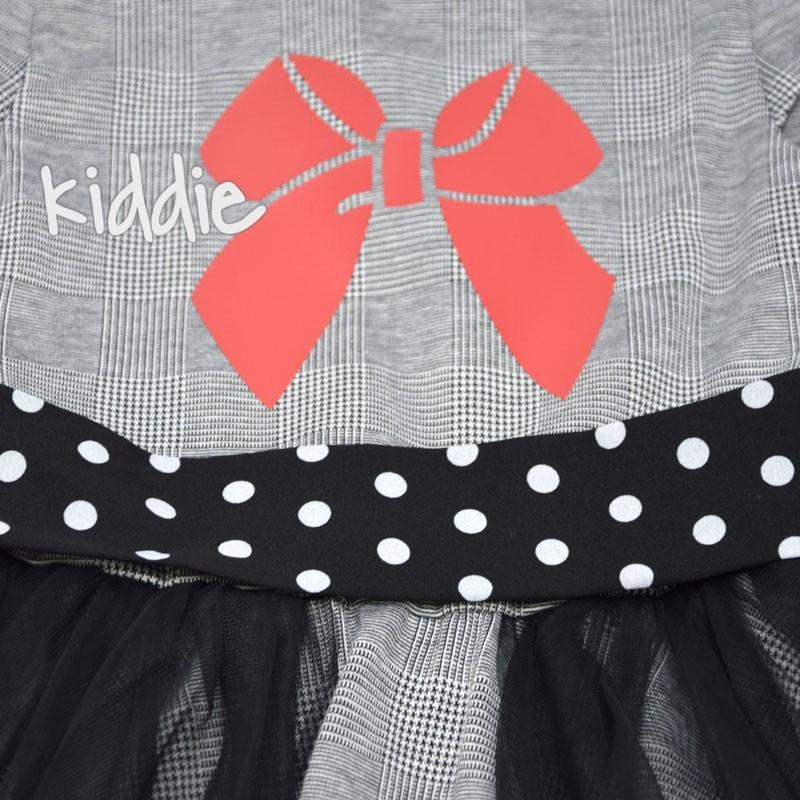 Rochie Kim Kids cu curea si buline copii