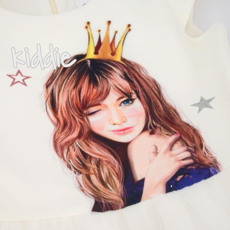 Rochie Kim Kids cu print fetita