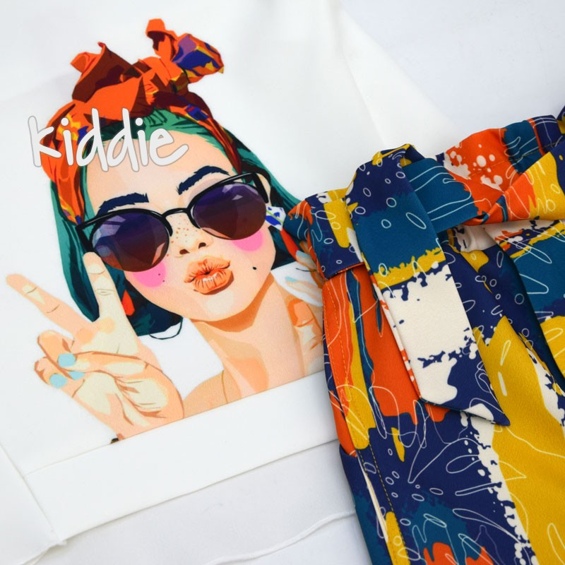 Set cu tunica Kim Kids cu print fete