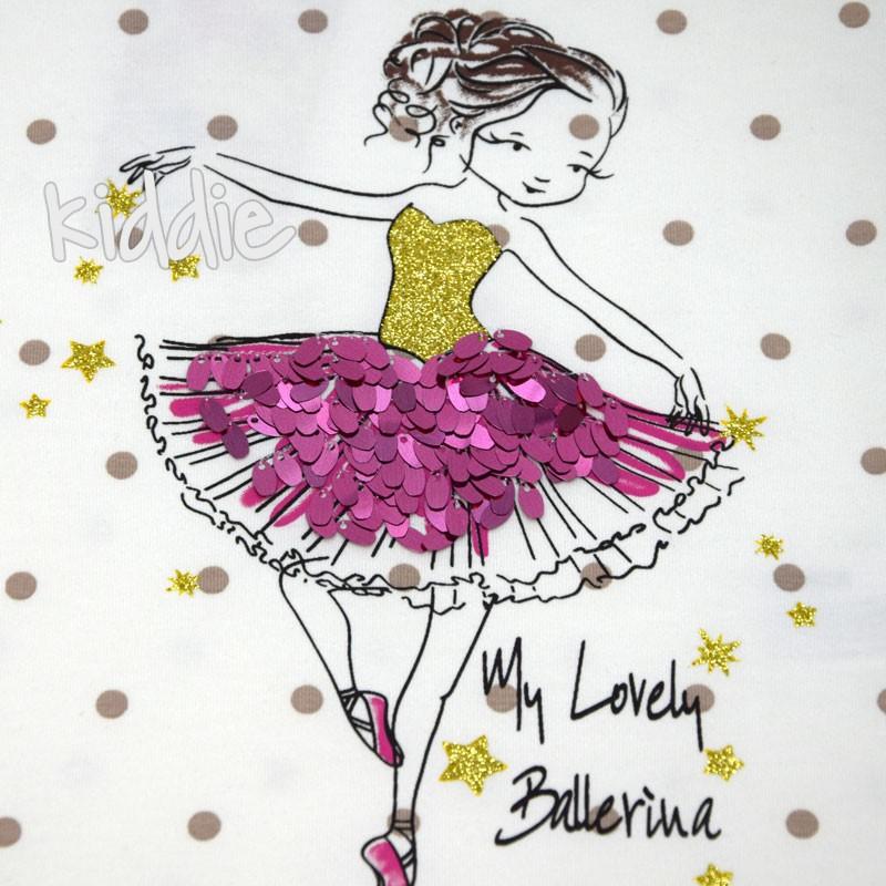 Tricou fete My lovely Ballerina Wanex