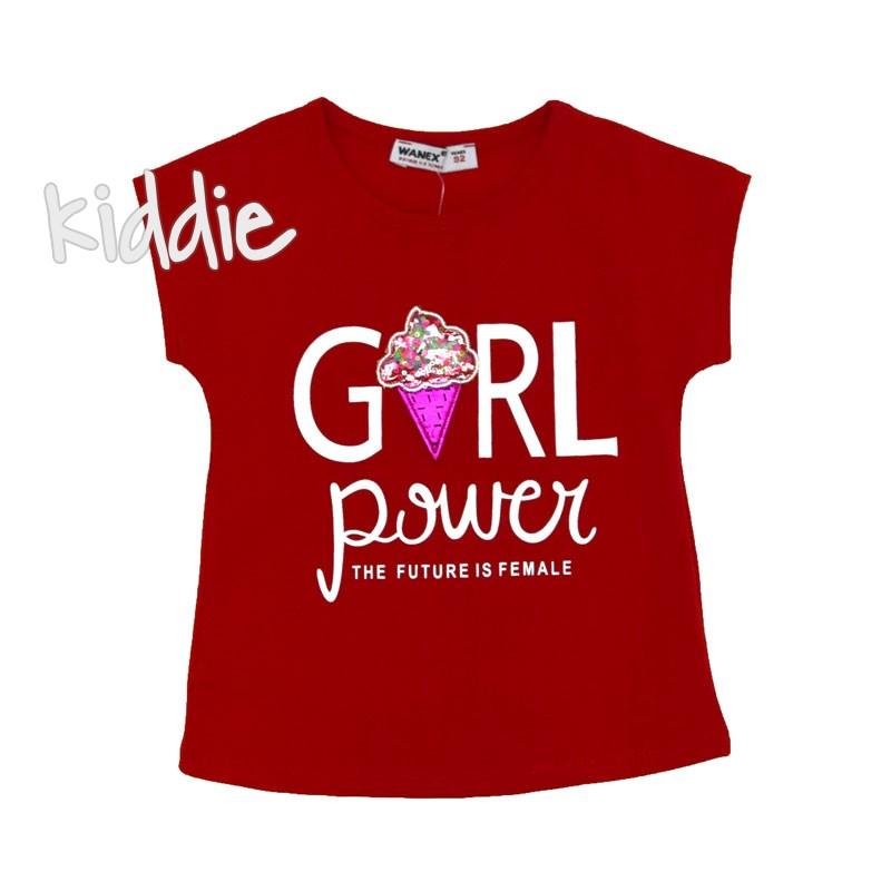 Tricou copii Girl Power Wanex