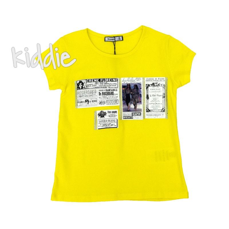 Tricou de fete Crème Floreine Wanex