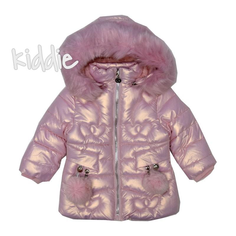 Geaca cu puf Pink Baby fete