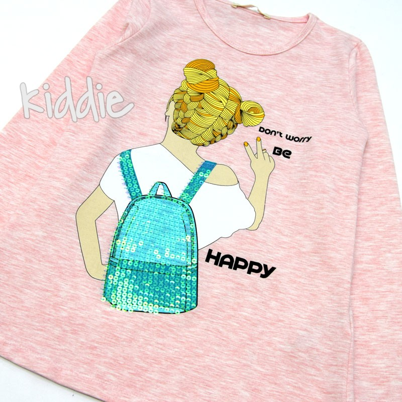 Bluza de fete Don't worry Be happy Breeze