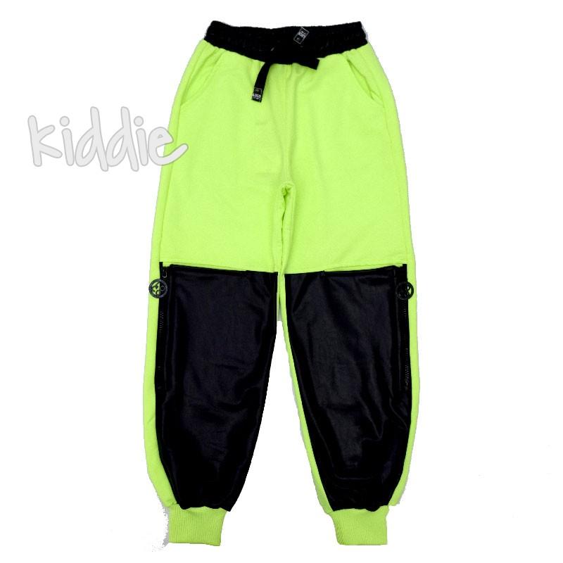 Pantaloni Loco Loco cu buzunar din piele fete