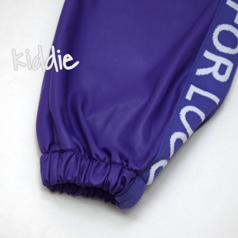 Pantaloni din piele Loco Loco fete