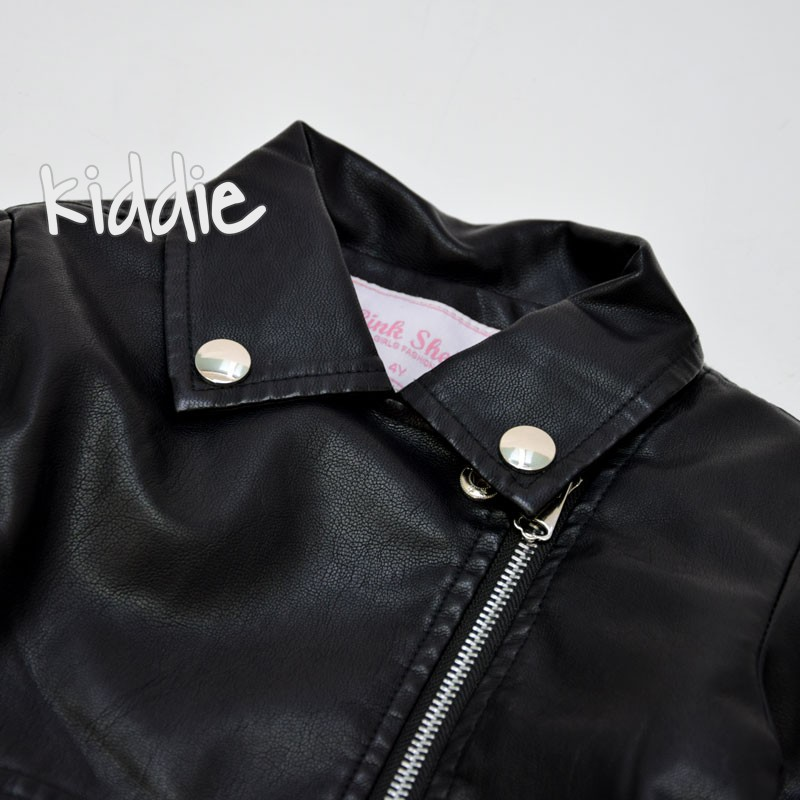 Jacheta din piele Pink Shell cu caracul fete