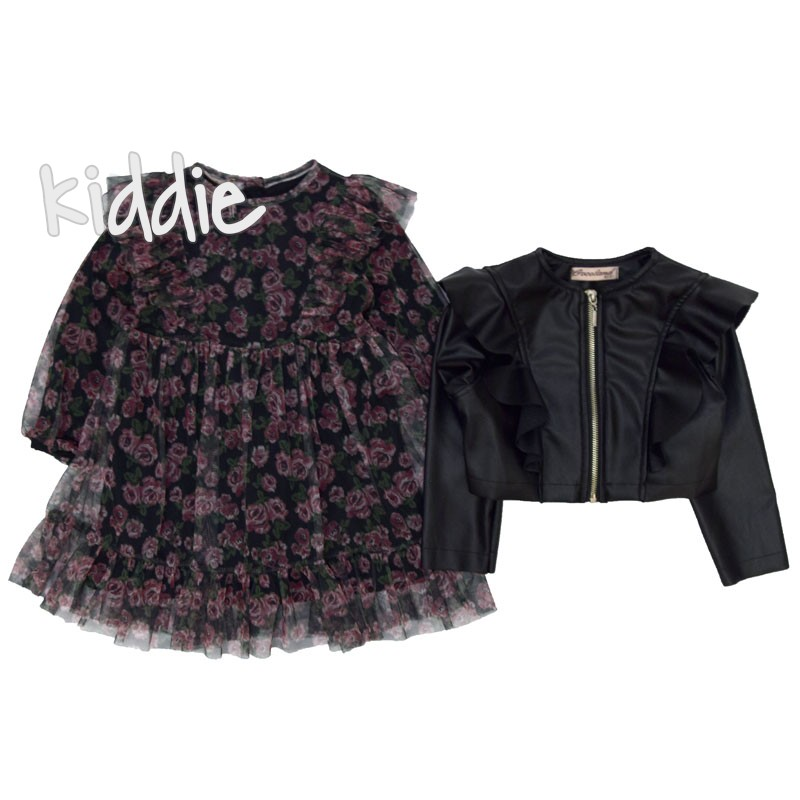 Rochie cu jacheta piele Cocoland fete