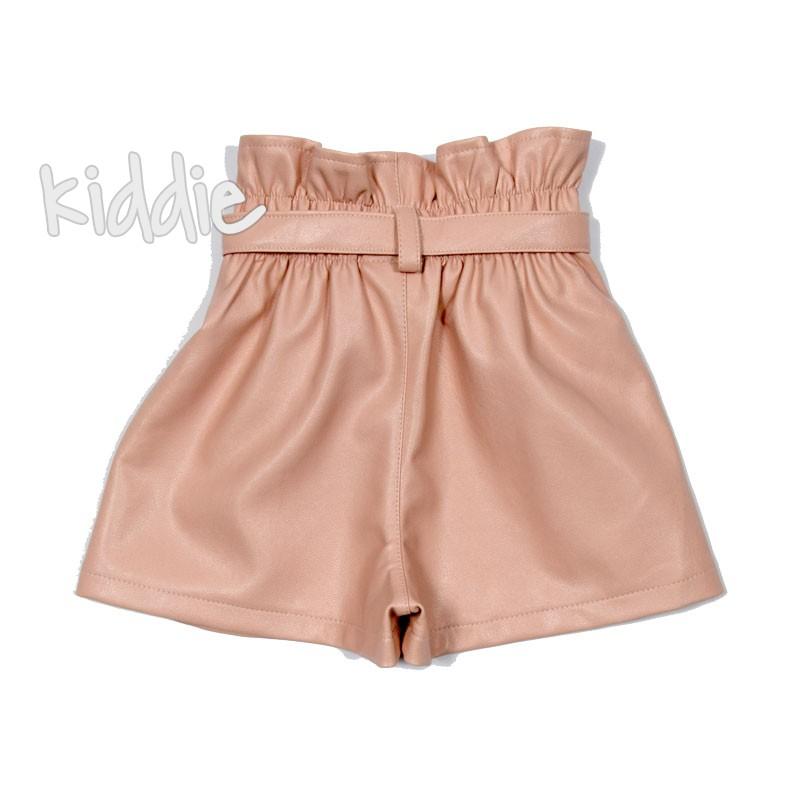 Pantaloni scurti din piele Contrast fete