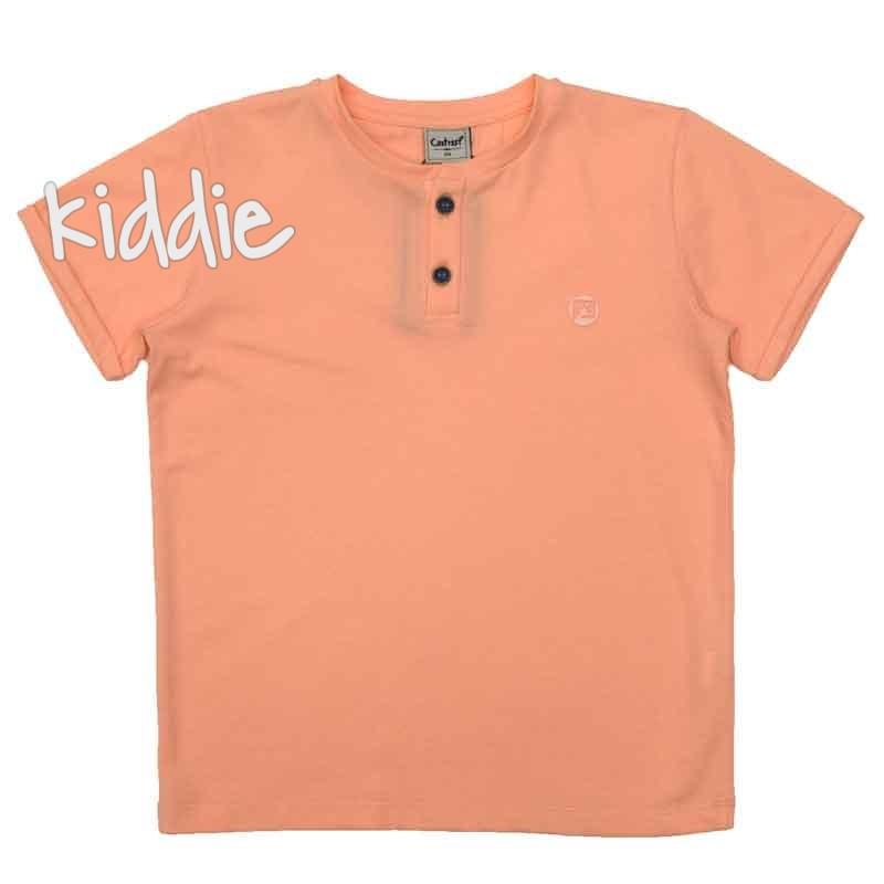 Tricou cu nasturi Contrast copii
