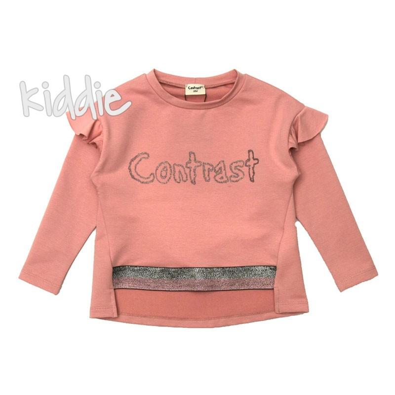 Bluza cu logo Contrast copii