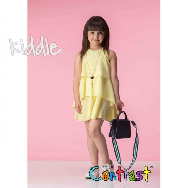 Rochie cu accesoriu Contrast copii