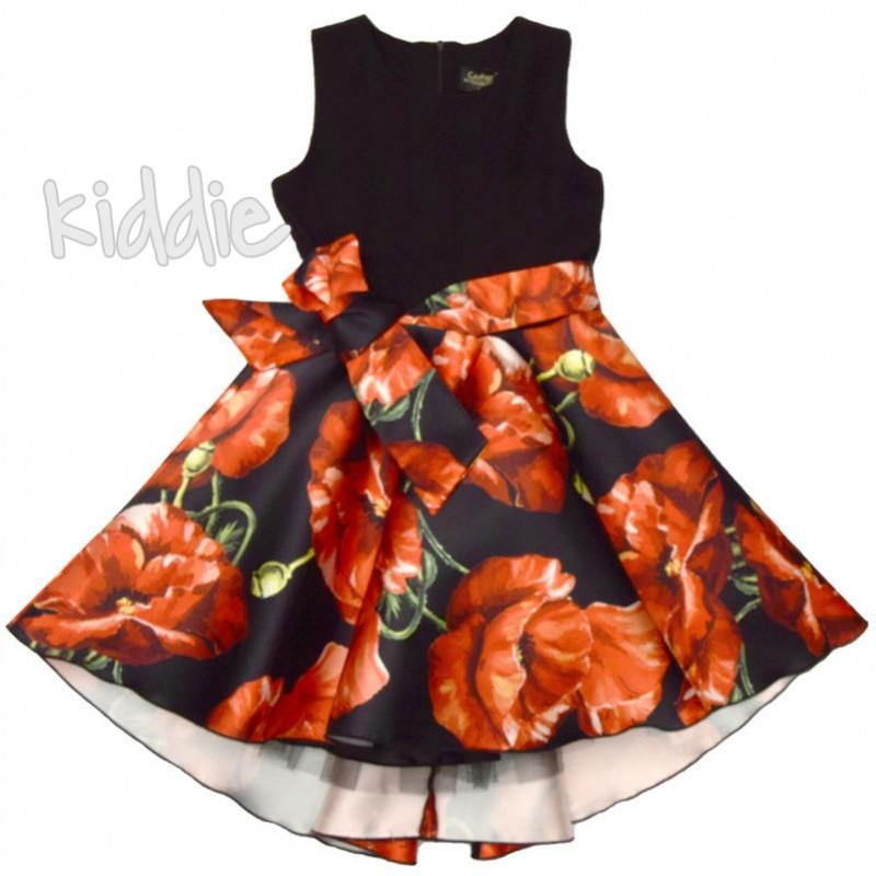 Rochita cu print floral Contrast copii