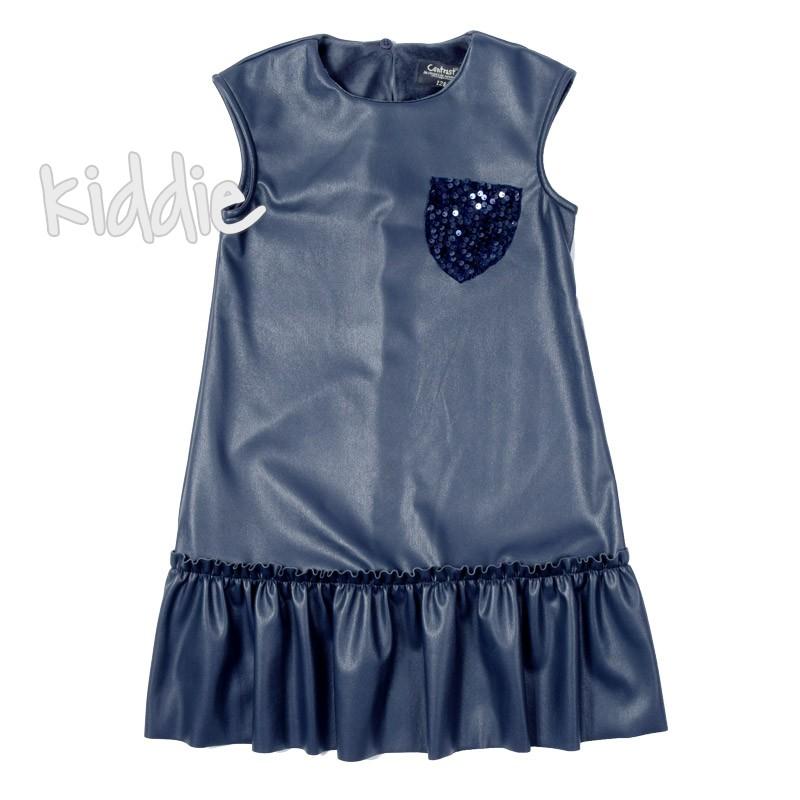 Rochie piele Contrast copii