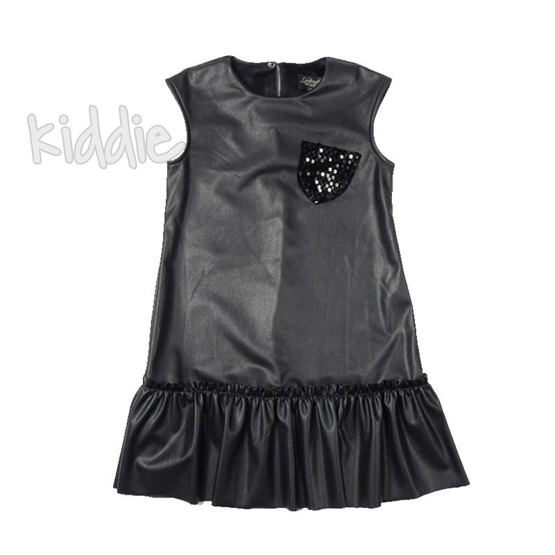 Rochie din piele Contrast copii
