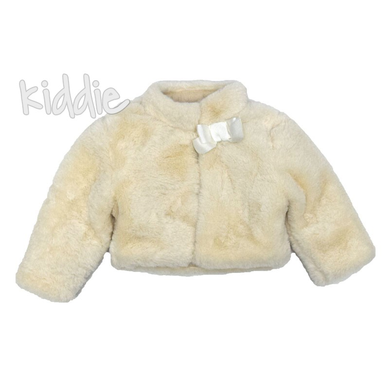 Palton pufos si scurt Contrast bebe