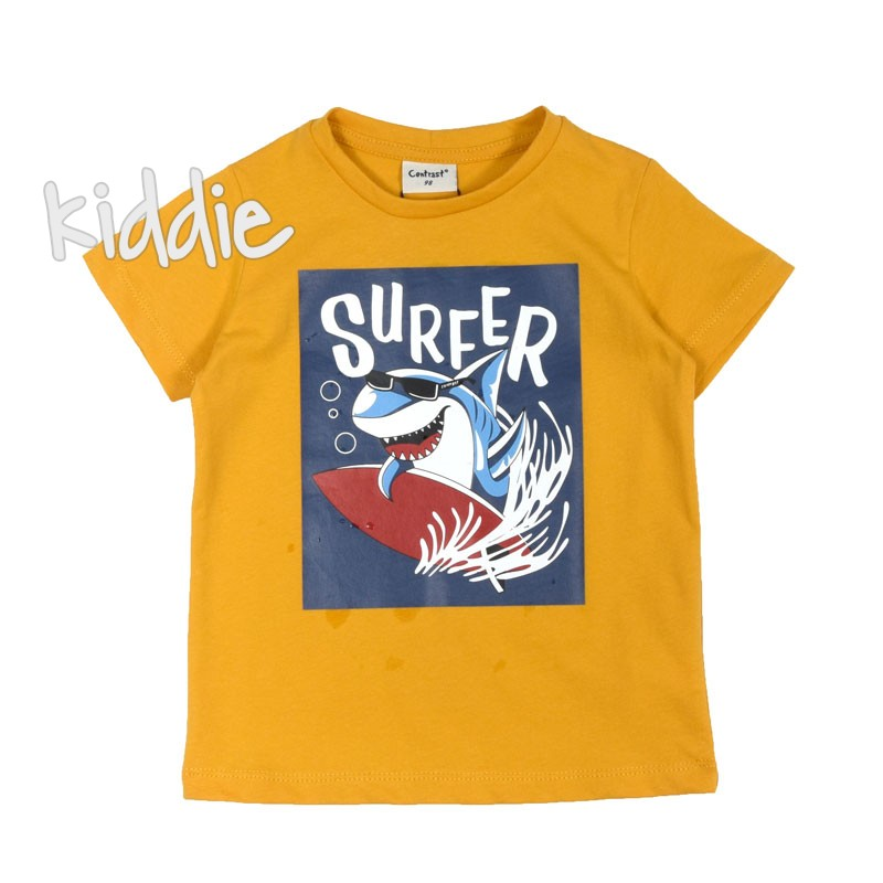 Tricou Contrast surfer baieti