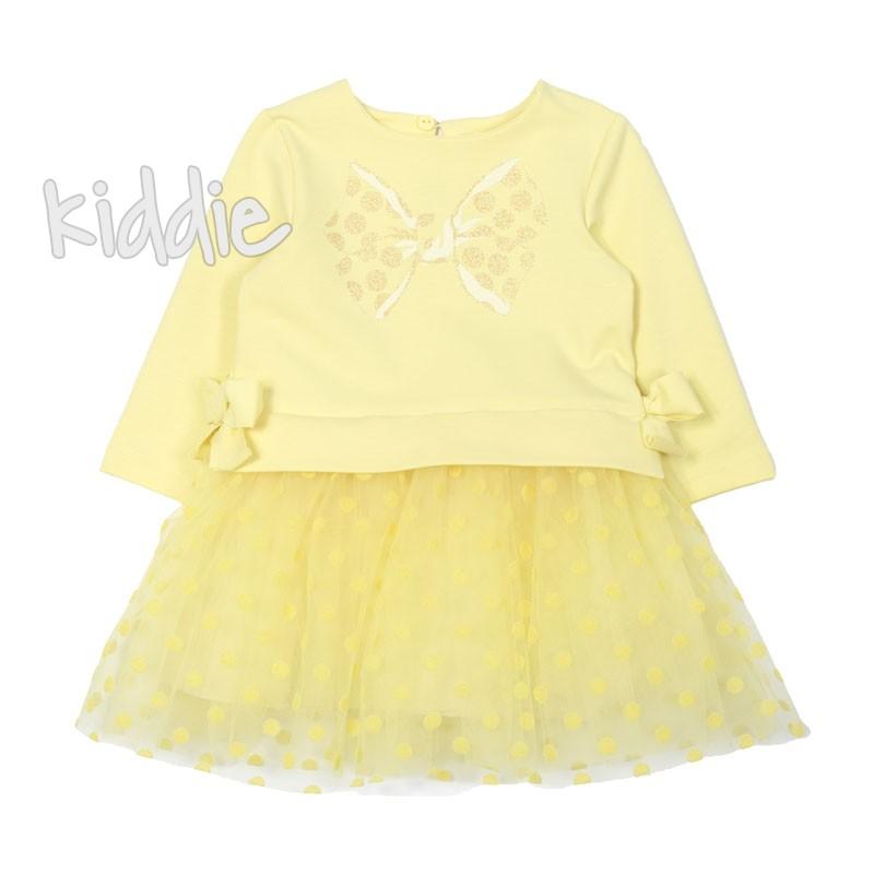 Rochie cu tulle si buline Contrast pentru bebe