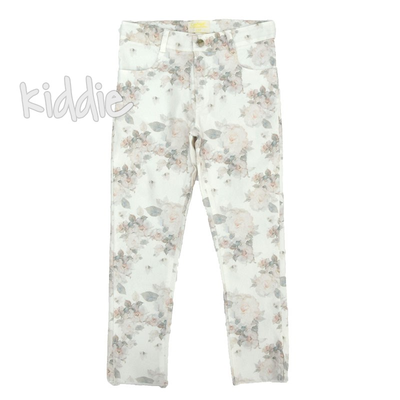 Pantaloni cu print floral Contrast fete