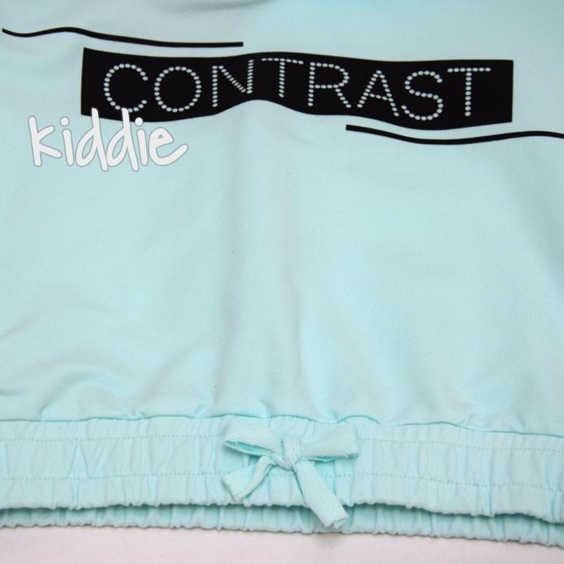 Hanorac si pantaloni Contrast fete