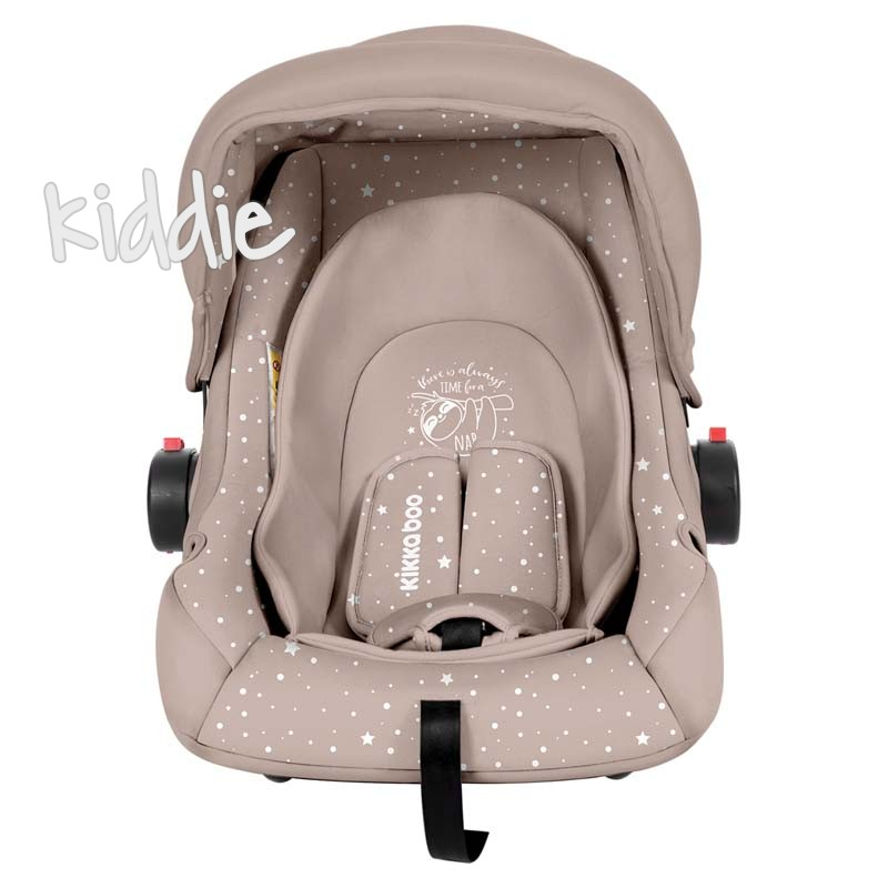 Scaun auto 0с 0-13 kg Kikka Boo Little Traveler Beige Sloth 2020