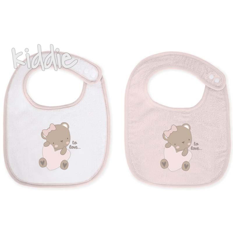 Set bavete material prosop Kikka Boo Dreamy Flight Pink