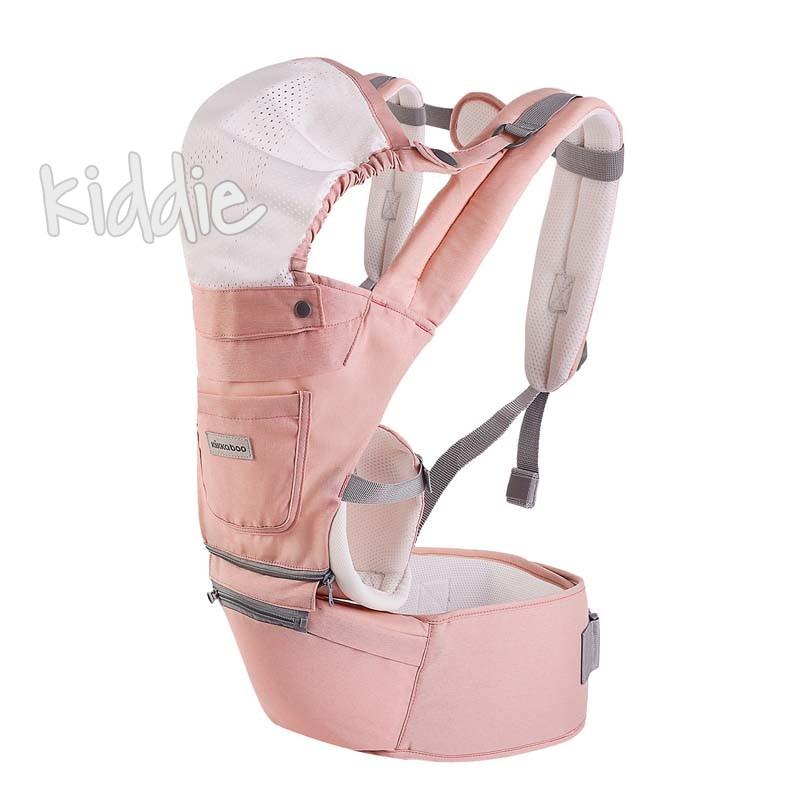 Marsupiu bebelusi Kikka Boo 3 in 1 Chloe Pink